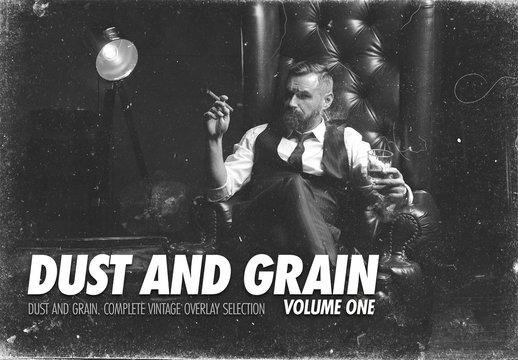 Dust and Grain Photo Overlay Mockup Set