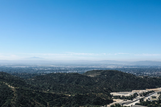Azusa from mountains's view