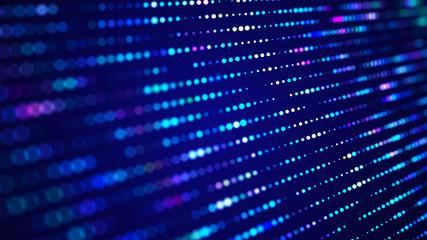 Data technology background. Abstract digital background. Science background. Technological background. Matrix. Binary Code. 3D rendering. 4k.