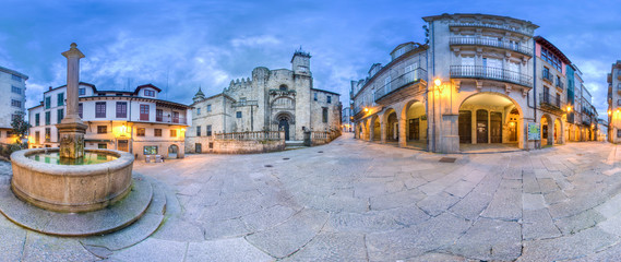 360 photo of the exterior of the cathedral of San Martin in Ourense Wall mural
