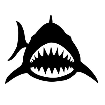 サメの正面のシルエット