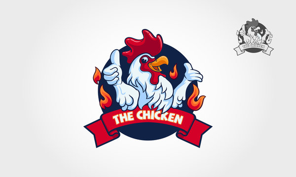 The Chicken logo illustration. This logo template suitable for businesses, product names, restaurants serving chicken dishes, or can also be used for modern chicken farming business.