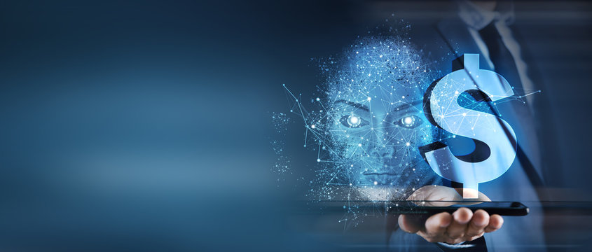business concept artificial intelligence and money