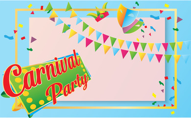 A Happy Carnival Festive Concept image vector for holiday content.
