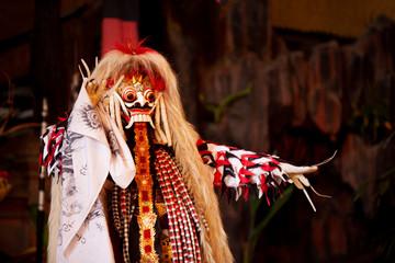 Bali Indonesia, Jan 20 2020 ; barong and keris dance is a religious show in Bali based on the great Hindi epics of Ramayana