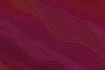 Poster Fractal waves abstract fluid lines and waves and curves wallpaper design with dark pink, dark moderate pink and dark red colors. art for sale. good wallpaper or canvas design