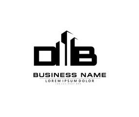 Obraz D B DB Initial building logo concept - fototapety do salonu