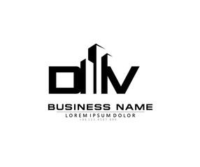 D V DV Initial building logo concept