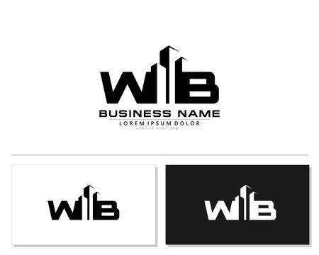 W B WB Initial building logo concept