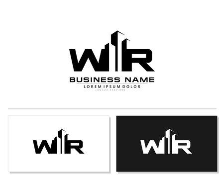 W R WR Initial building logo concept