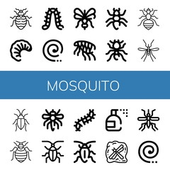 Set of mosquito icons