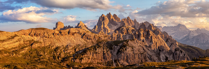 Fotobehang Alpen The mountains of the Cadini Group in the Dolomite Alps in South Tyrol, Italy