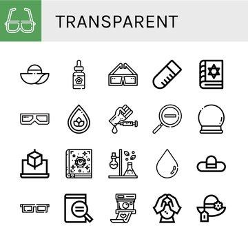 transparent icon set