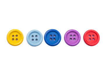 Poster Macarons Plastic buttons on white with clipping path