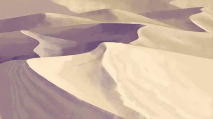 Printed kitchen splashbacks Beige illustration of the desert, sand hills
