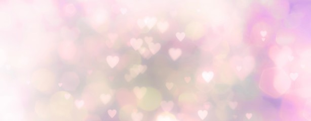 Fototapete - Abstract pastel background with hearts - concept Mother's Day, Valentine's Day, Birthday - spring colors