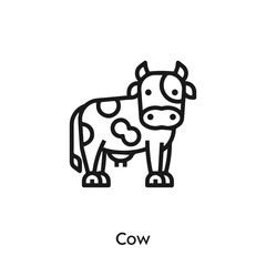 Cow icon vector. Cow icon vector symbol illustration. Modern simple vector icon for your design. Cow icon vector