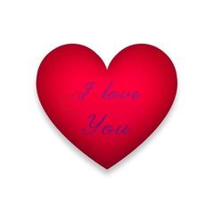 I love you Red Heart Icon Image Heart Logo Sign Love Design Vector Illustration