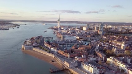 Wall Mural - Aerial view of Portsmouth, Hampshire, Great Britain