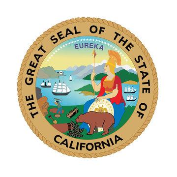 Vector of beautiful California Republic seal.