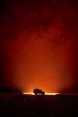 Photo sur Aluminium Rouge mauve Door to Hell