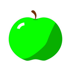 picture of green apple on a white background