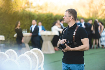 photographer working at event