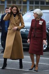 Britain's Catherine, Duchess of Cambridge, visits Ely & Caerau Children's Centre in Cardiff