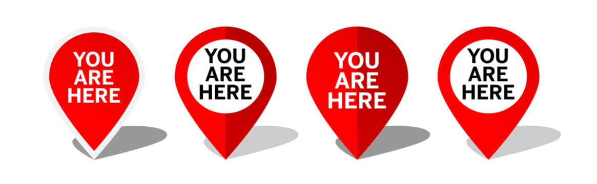 You are here, marker location Icon