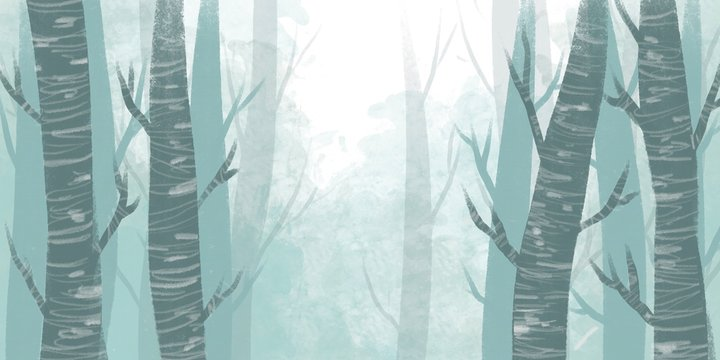 Simple background images of trees This image is smoothly horizontal and can be used as a background and design.