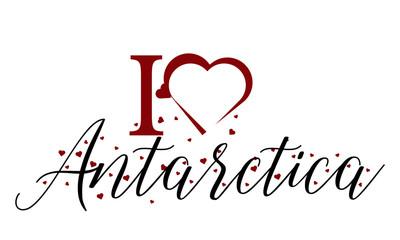 I Love Antarctica vector Background Image