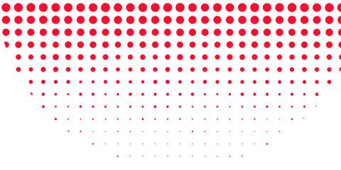 Polka dot pop art halftone pattern