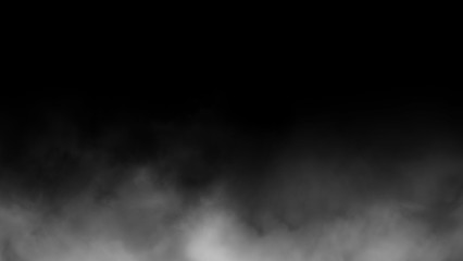 Abstract fog and smoke on black color background.