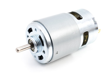 DC motor on white background Wall mural