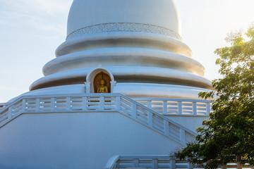 Japanese Peace Pagoda Buddhist temple in Sri Lanka