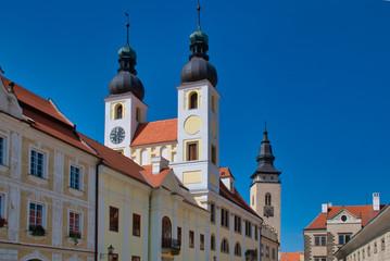 Telcz, Stadt in Mähren, Tschechien, Bezirk in Iglau. Unesco Weltkulturerbe