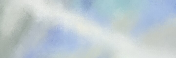 grunge horizontal banner background  with pastel blue, lavender and dark gray color Fotomurales