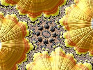 Fraktal Bild mit wundeschönen mustern und Farben
