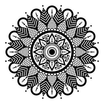 Ethnic Mandala Ornament. Arabic, Pakistan, Moroccan, Turkish, Indian, Spain motifs