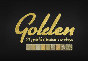 Gold Foil Texture Mockup Bundle