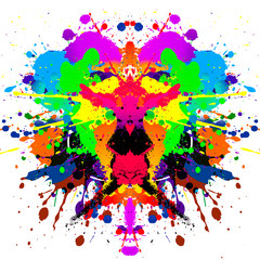 abstract illustration with colorful paint splashes