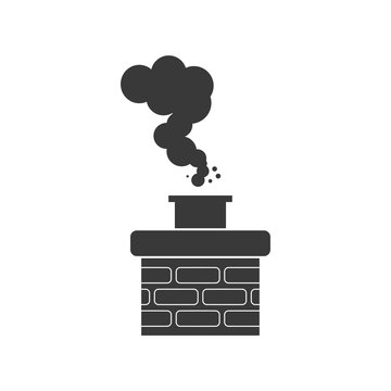 Chimney smoke icon for chimney sweep concept in vector