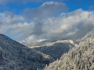 Winter landscape in the Bavarian mountains