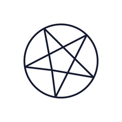 Isolated satanism symbol vector design