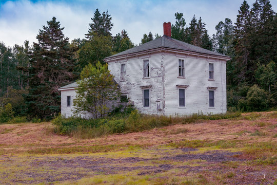 Abandoned House in rural Maine, USA