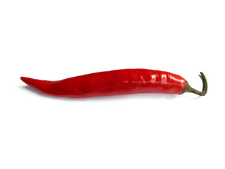 Canvas Prints Hot chili peppers Chili pepper isolated on a white background with clipping path. Hot red chili pepper on white background.