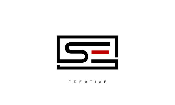 se logo design modern icon