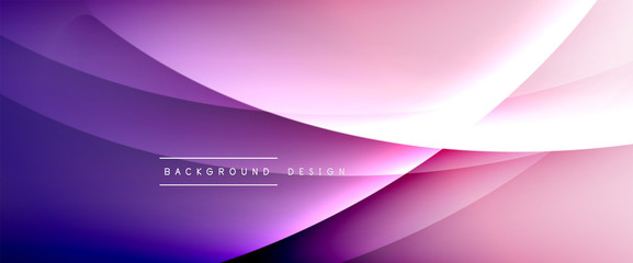 Wave liquid style lines with shadows and light on gradient background. Trendy simple fluid color gradient abstract background with dynamic straight shadow line effect Fototapete