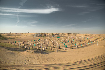 Foto op Canvas Donkergrijs Desert landscape at the Emirates