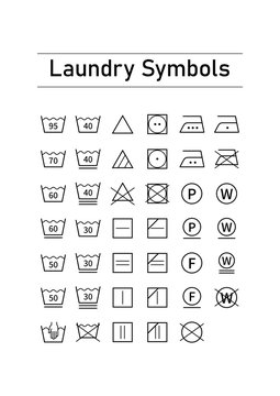 洗濯表示のアイコン素材